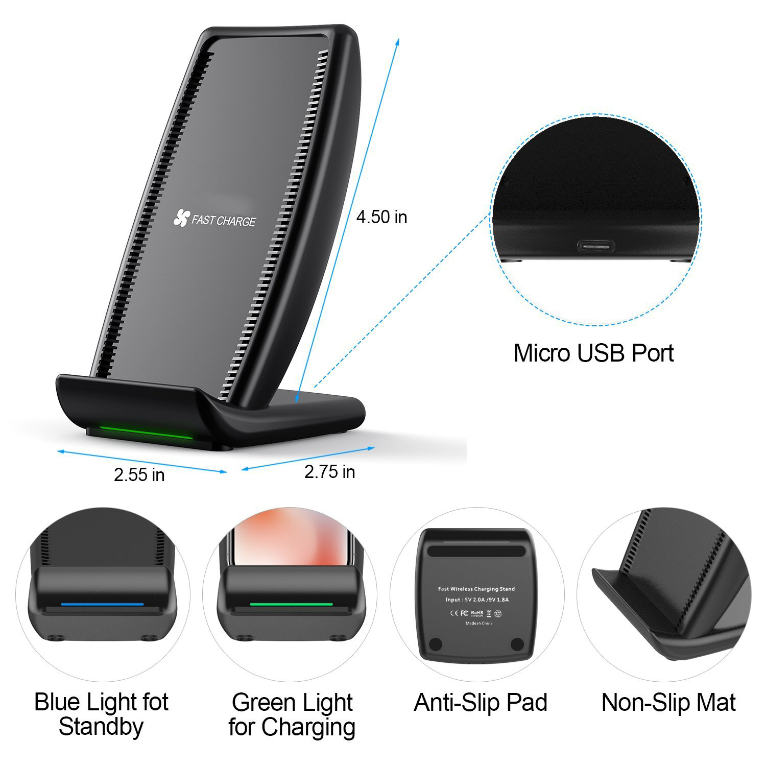 Super fast wireless charger for iPhone S700