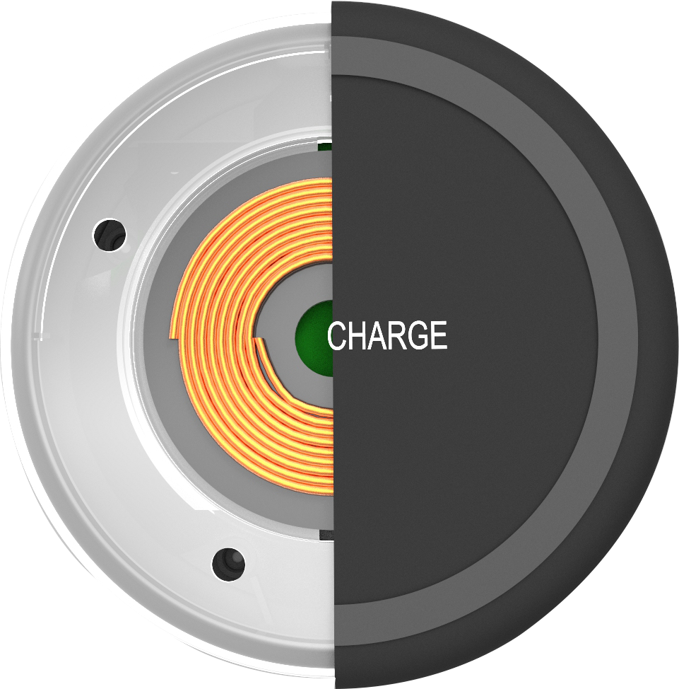 7.5W fast wireless charger portable round pad for iPhone F180