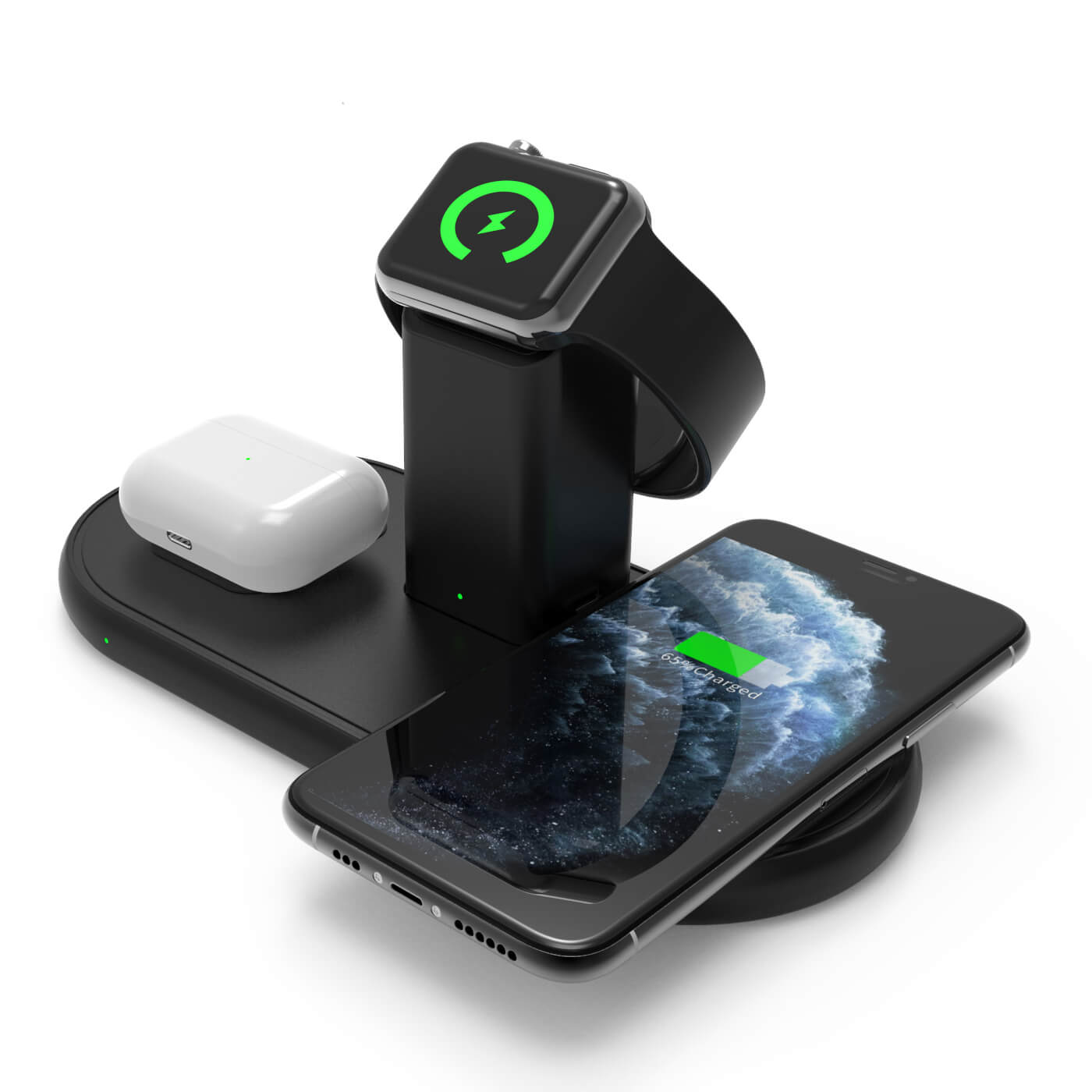 SMAMAO™ 3IN1 wireless chargers for iphone+Airpods+ Apple watch |Q100