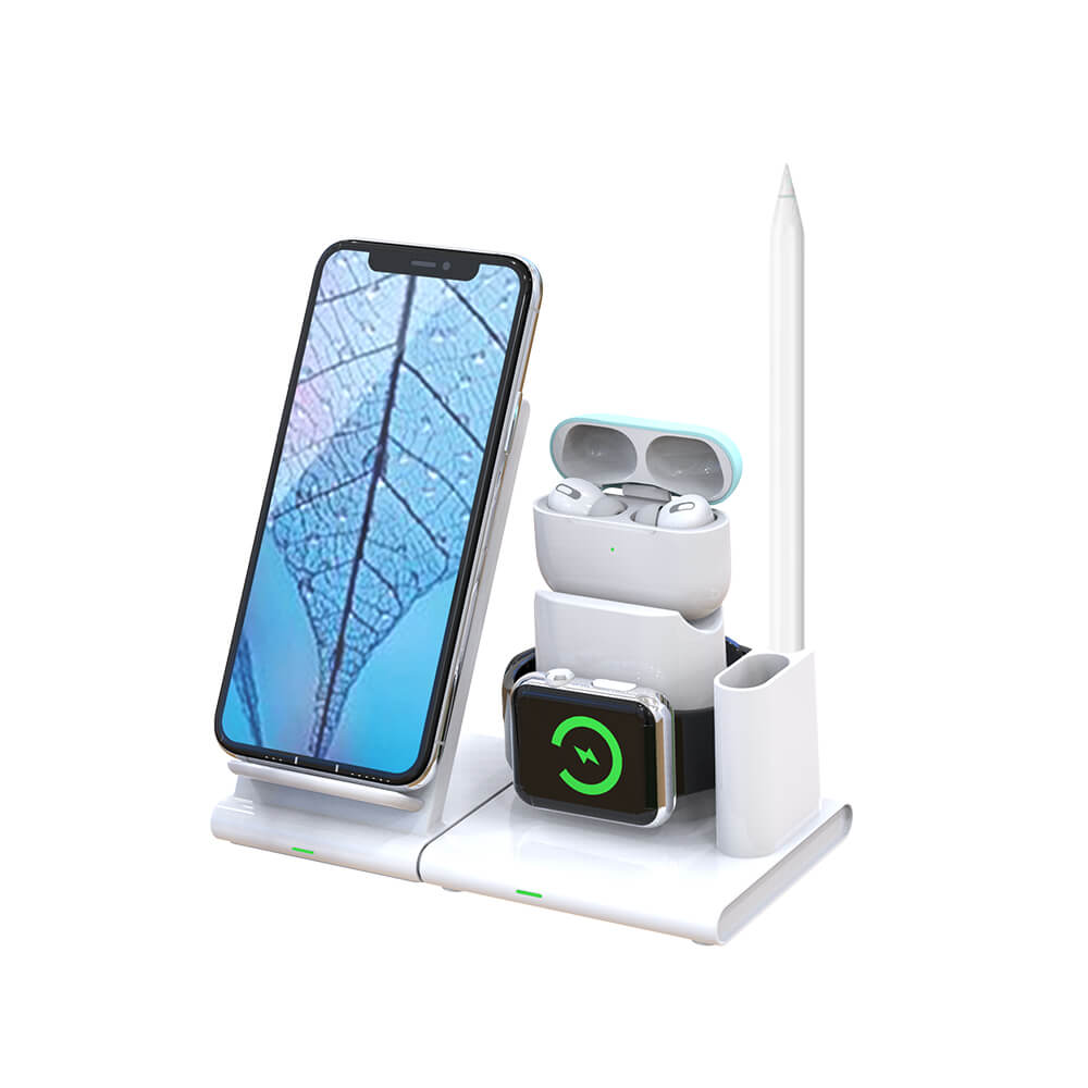 SMACAT 4in1 wireless charging dock iphone,Airpods,Apple watch and Pencil