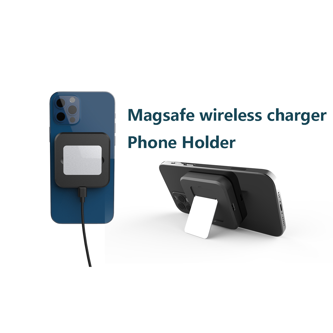 Magsafe wireless charging stand and pad for iPhone 12 pro max