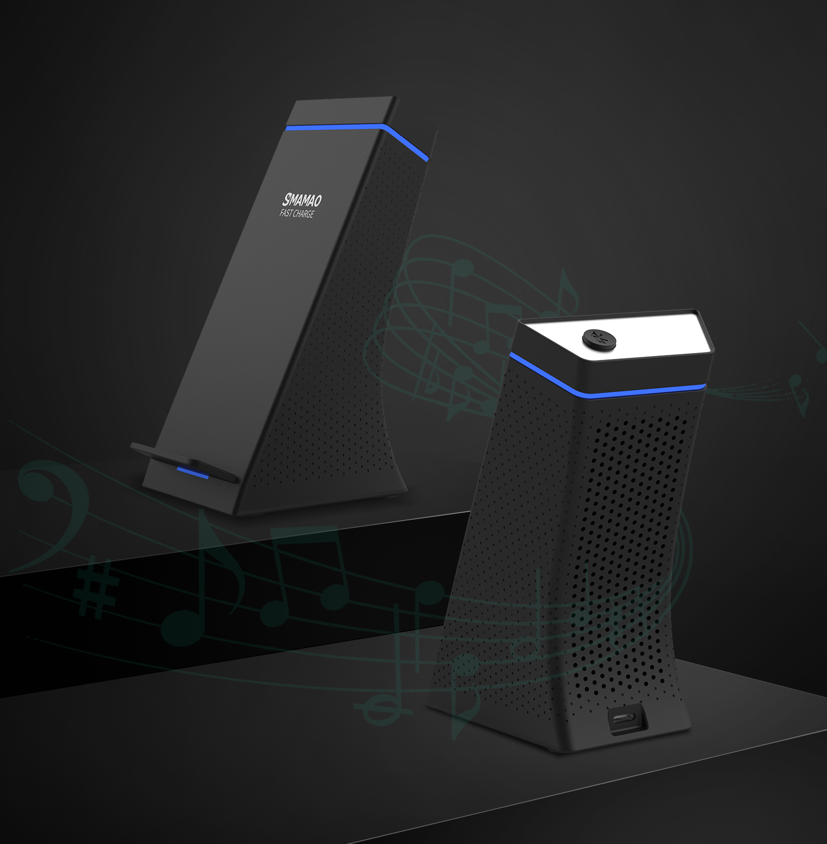 Bluetooth Speaker Wireless Charger WN2