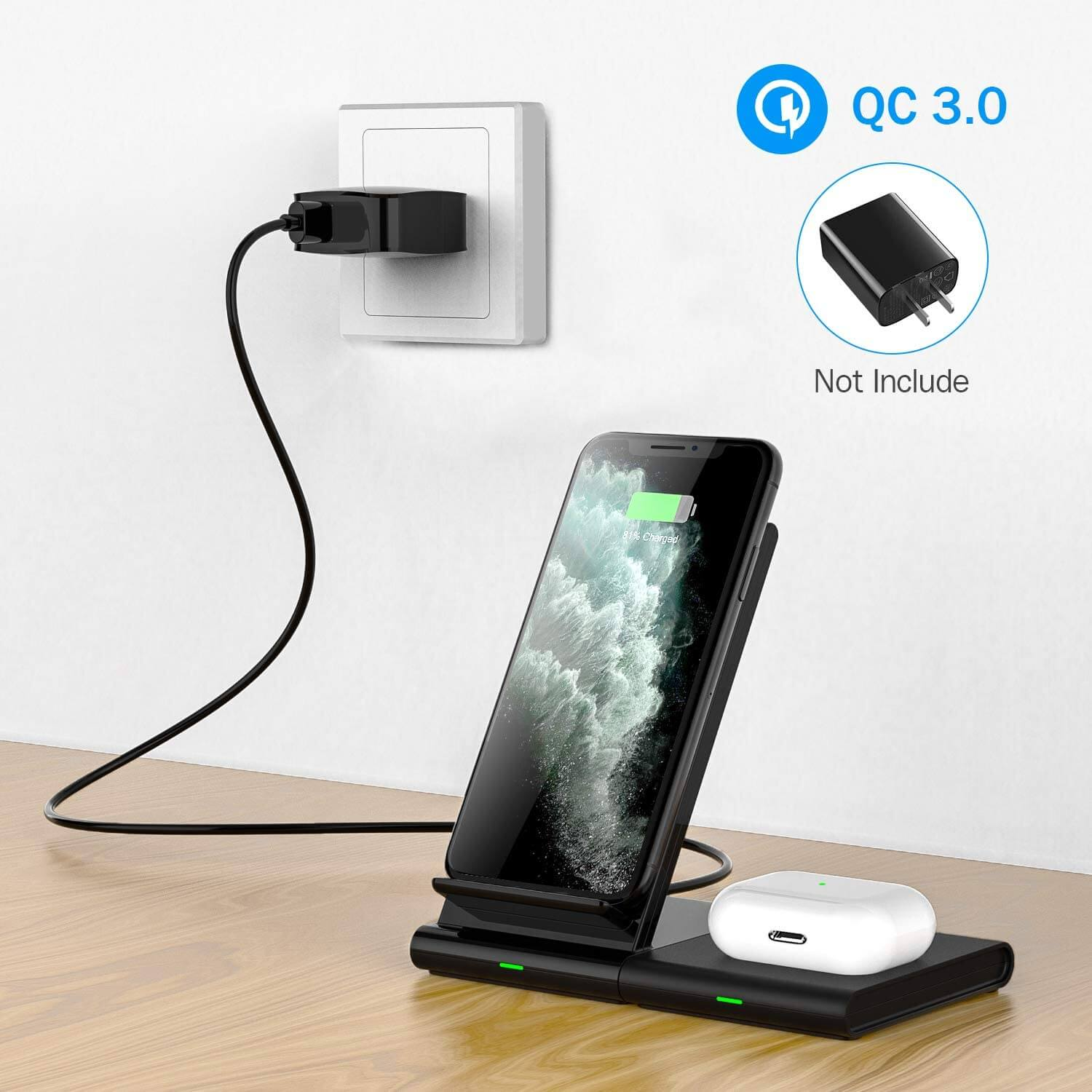 Turbo Wireless Charger stand Iphone 7.5W fast charging F430