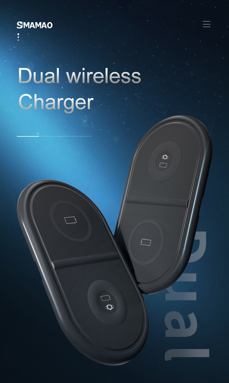 2in1 wireless charging pad